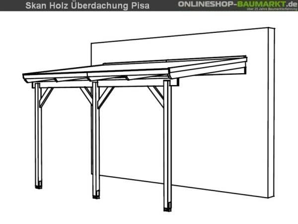 Skan Holz Terrassenüberdachung Pisa 400 x 250 cm