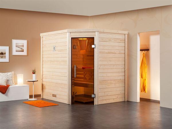 Weka Aktions-Sauna Terra 58 mm inkl. 7,5 kW Ofen